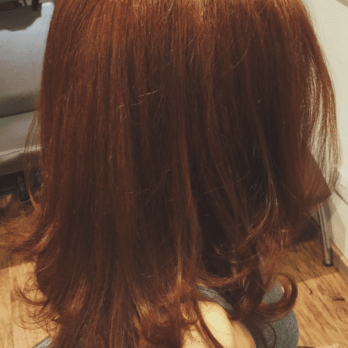 Auburn- Long Hair - Aveda Colour - Tribe Salons (1)