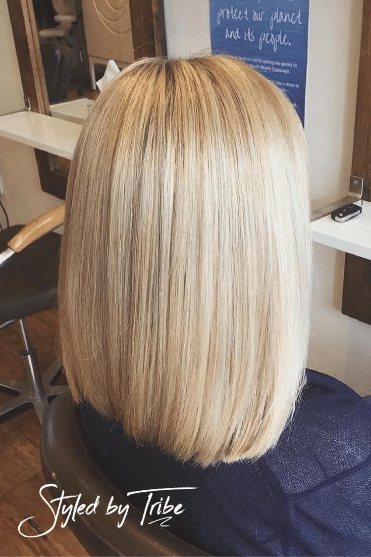 Highlights With Olaplex Long Bob Aveda Colour Tribe Hair Salon
