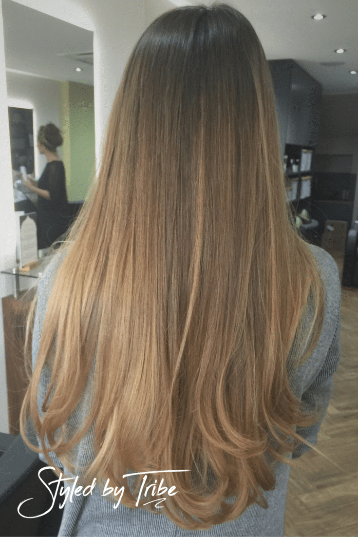 Ombre long hair aveda colour styled by christopher - Christophe hair salon ...