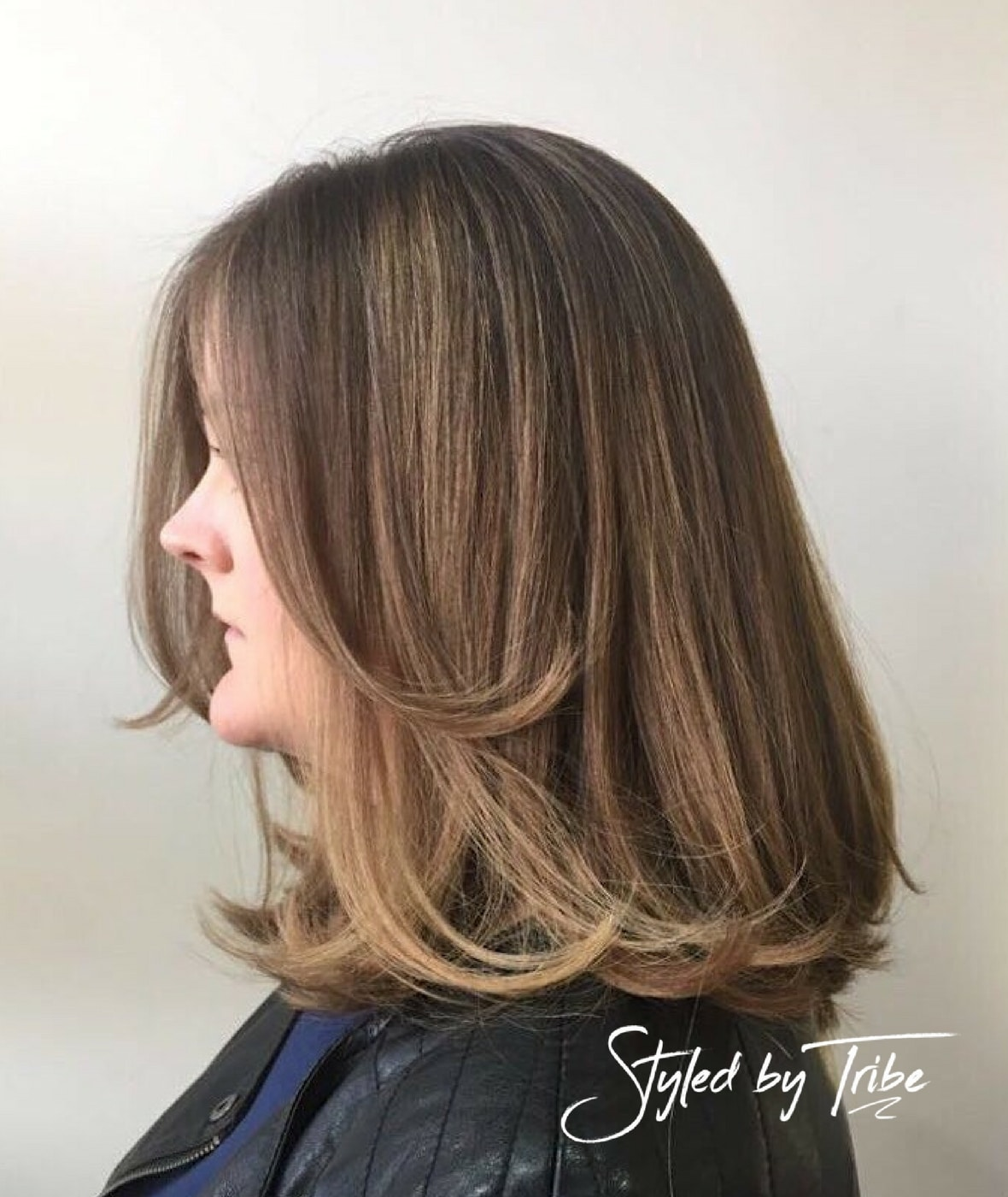 Balayage Mid Length Cut Styled By Danielle Tribe Hair