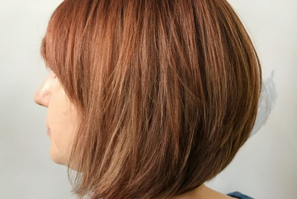 Warm Highlights using Aveda Colour & Cut & Finish for Lucy | Styled by Christopher