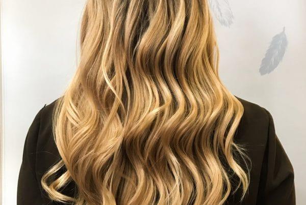 Beautiful Blonde Balayage & Microlights | Styled By Danielle