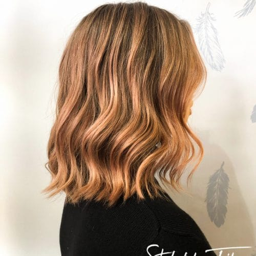 Peachy Midlength Chop | Styled By Tribe