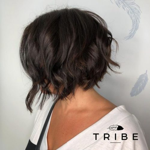 Textured Bob Styled By Jessie at Tribe Salon Chislehurst